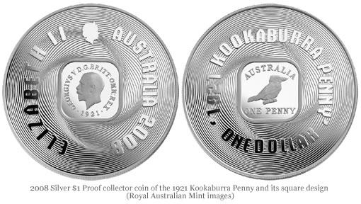 2008 Silver Proof Coin of 1921 Kookaburra Penny