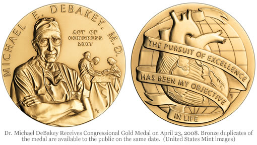 Dr. Michael DeBakey Congressional Gold Medal