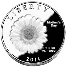 Mother's Day Commemorative Coin Mockup