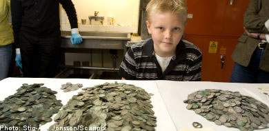 Nine Year Old Boy Finds Buried Treasure of Silver Coins