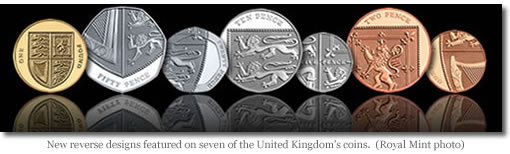 United Kingdom Shielf of Royal Arms coins