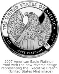 2007 American Eagle Platinum Proof Reverse