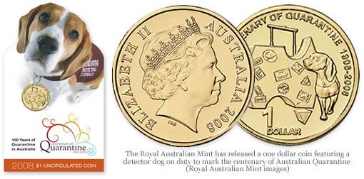 2008 Centenary of Australian Quarantins $1 Dollar Coin