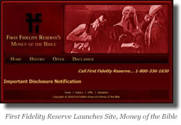 Money of the Bible web site image