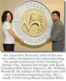 Genevieve Bertrand and William Woodruff