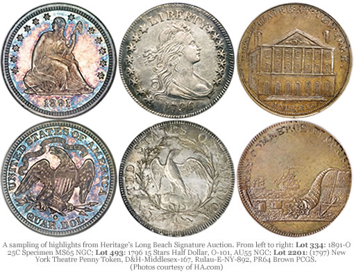 Heritage Long Beach Auction Coins