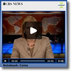 """Video image of Katie Couric's """"Notebook"""" Commentary on Pennies and Nickels"""