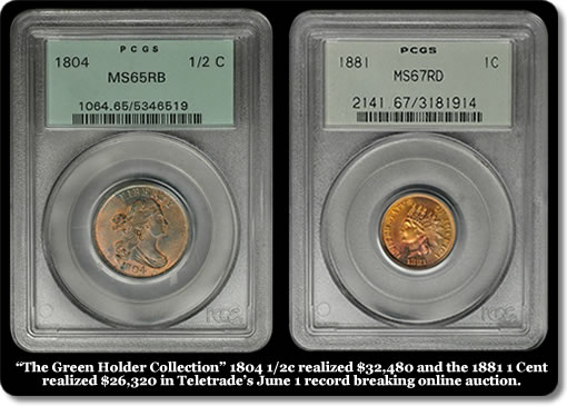 PCGS Green Holder Coins