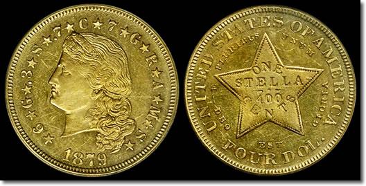 1879 Gold Stella Coin