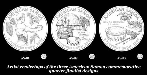 American Samoa Commemorative Quarter Finalist Designs