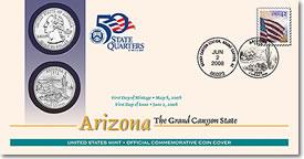 Arizona First Day Coin Covers