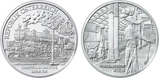 "Austrian Railways Third Silver Commemorative Coin, the ""Belle Époque"""