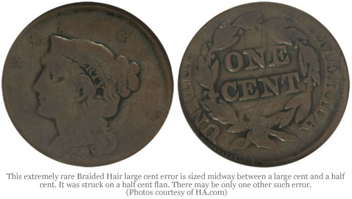 Braided Hair large cent error