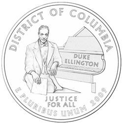 Duke Ellington Washington D.C. Quarter Design Candidate