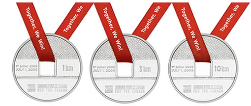 HBC Run for Canada Medals