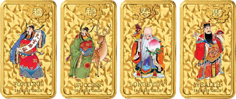Mythological Chinese Character Coin Series