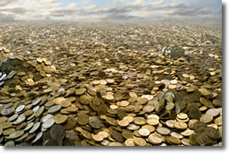 Never ending sea of coins