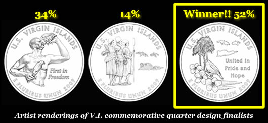 Virgin Islands Commemorative Quarter Designs and winner