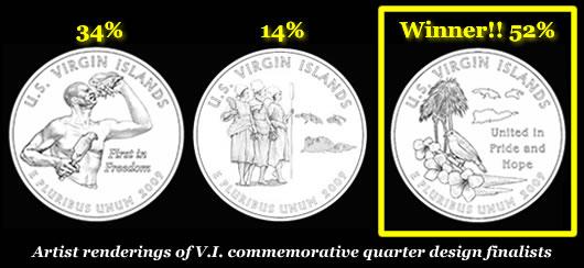 Virgin Islands Commemorative Quarter Designs and winner