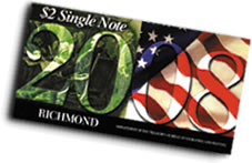 2008 Richmond First Day $2 Single Notes
