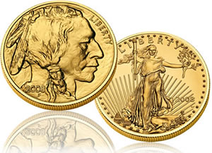 2008 American Buffalo and American Eagle Gold Coins