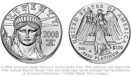 2008 American Eagle Platinum Uncirculated Coin
