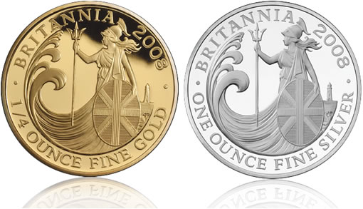 2008 Britannia Silver and Gold Collector Proof Coins