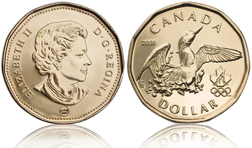 2008 Lucky Loonie Canadian Dollar Coin