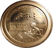 Louis Braille Bicentennial Silver Dollar Prototype