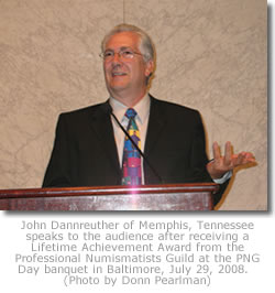 John Dannreuther accepts PNG award