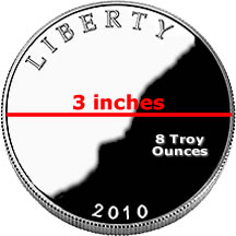 National Park Quarter size and weight for silver coin