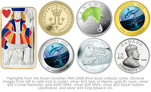 Royal Canadian Mint 2008 Third Issue of Collector Coins