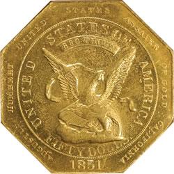 1851 Augustus Humbert $50 Gold Piece