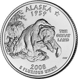 Alaska State Quarter, reverse