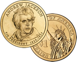 Andrew Jackson Presidential $1 coin
