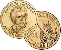 Andrew Jackson Presidential $1 coin