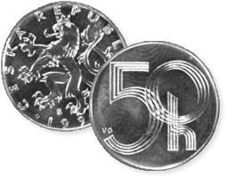 Czech 50-heller coin