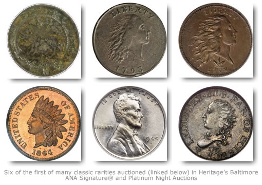 Coin Highlights from Heritage's Baltimore ANA Signature® and Platinum Night Auctions