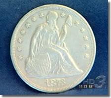 1873-CC Seated Liberty Dollar