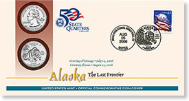 Alaska First Day Coin Cover