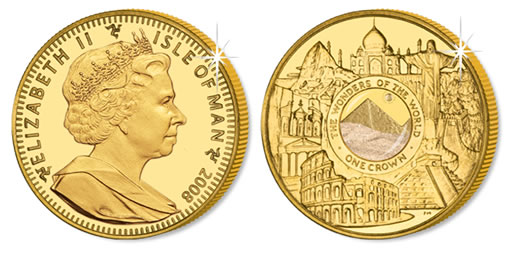 Wonders of the Mondern World Gold Coin