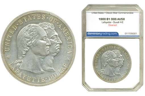 1900 $1 Lafayette Duvall 4-E Variety (Obverse)