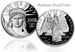 2008 American Eagle Platinum Proof coin