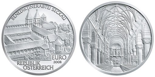 Austria Commemorative 2008 Seckau Abbey Silver Coin