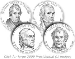 2009 Presidential Dollar Design Images