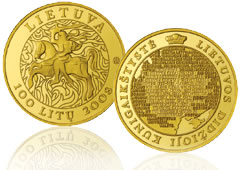 Gold Commemorative Coin for Lithuania Millennium Anniversary