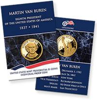 Martin Van Buren Individual Proof Coin