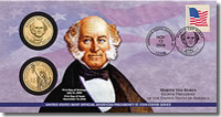 2008 Martin Van Buren $1 Coin Cover
