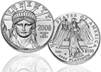 American Eagle platinum uncirculated coin, small