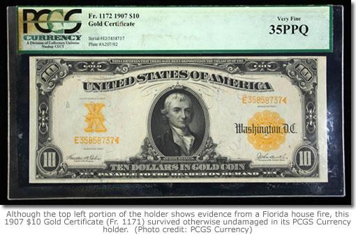 1907 $10 Fr. 1171 banknote